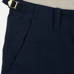 Мужские шорты Carhartt WIP Aviation Columbia Ripstop 6.5 Oz Navy Rinsed фото- 1