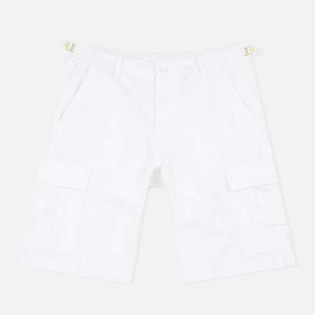 Carhartt WIP Aviation Columbia Ripstop 6.5 Oz Men`s Shorts White Rinsed