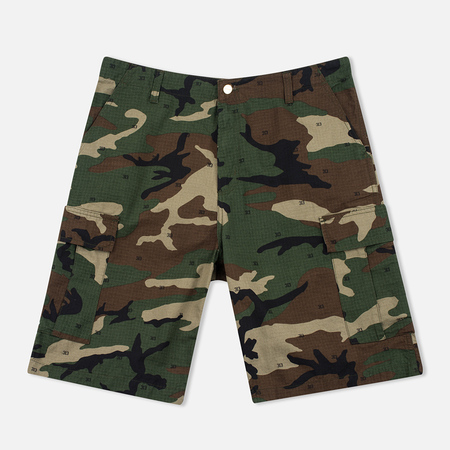 Carhartt WIP Cargo Columbia Ripstop 6.5 Oz Men`s Shorts Camo 313 Green