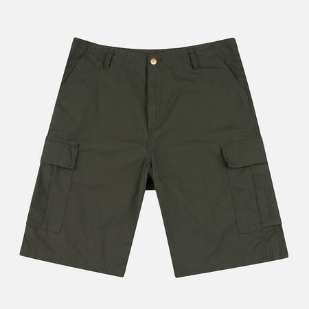 Carhartt WIP Cargo Columbia Ripstop 6.5 Oz Men`s Shorts Cypress Rinsed