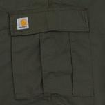 Мужские шорты Carhartt WIP Cargo Columbia Ripstop 6.5 Oz Cypress Rinsed фото- 4