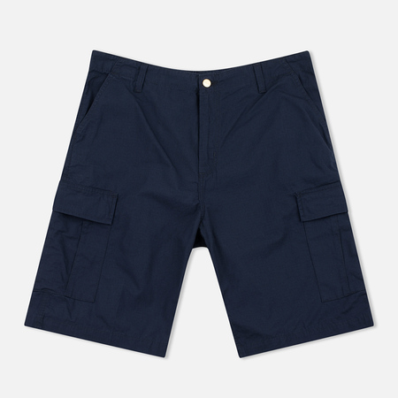 Carhartt WIP Cargo Columbia Ripstop 6.5 Oz Men`s Shorts Dark Navy Rinsed