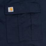 Мужские шорты Carhartt WIP Cargo Columbia Ripstop 6.5 Oz Dark Navy Rinsed фото- 4
