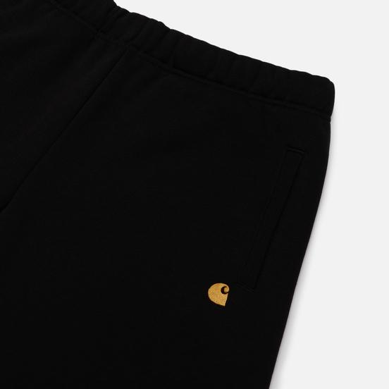 Мужские шорты Carhartt WIP Chase Sweat 13 Oz Black/Gold