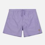 Мужские шорты Carhartt WIP Chase Swim 3.7 Oz Soft Lavender/Gold фото- 0