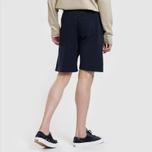 Мужские шорты Carhartt WIP College 9.4 Oz Dark Navy/White фото- 2