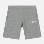 Мужские шорты Carhartt WIP College 9.4 Oz Grey Heather/White фото- 0