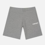 Мужские шорты Carhartt WIP College Sweat 9.1 Oz Grey Heather/White фото- 0