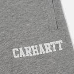Мужские шорты Carhartt WIP College Sweat 9.1 Oz Grey Heather/White фото- 3