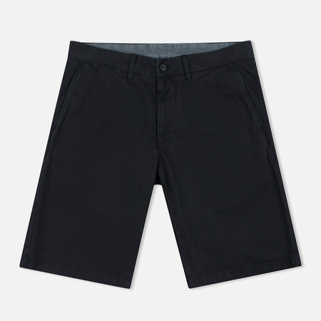 Carhartt WIP Johnson Twill 7 Oz Men`s Shorts Black Garment Dyed