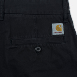 Мужские шорты Carhartt WIP Johnson Twill 7 Oz Black Garment Dyed фото- 3
