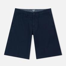 Мужские шорты Carhartt WIP Johnson Twill 7 Oz Blue Garment Dyed фото- 0