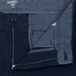 Мужские шорты Carhartt WIP Johnson Twill 7 Oz Blue Garment Dyed фото- 1