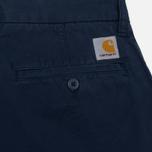 Мужские шорты Carhartt WIP Johnson Twill 7 Oz Blue Garment Dyed фото- 3