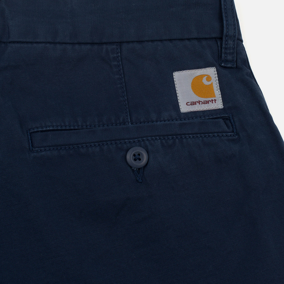 Мужские шорты Carhartt WIP Johnson Twill 7 Oz Blue Garment Dyed