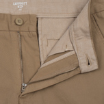 Мужские шорты Carhartt WIP Johnson Twill 7 Oz Leather Garment Dyed фото- 1