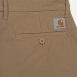 Мужские шорты Carhartt WIP Johnson Twill 7 Oz Leather Garment Dyed фото- 3