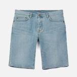 Мужские шорты Carhartt WIP Klondike 11.75 Oz Blue True Bleached фото- 0