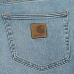 Мужские шорты Carhartt WIP Klondike 11.75 Oz Blue True Bleached фото- 4