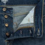Мужские шорты Carhartt WIP Klondike 11.75 Oz Blue True Stone фото- 2