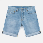 Мужские шорты Carhartt WIP Klondike II Edgewood 12 Oz Blue Burst Washed фото- 0