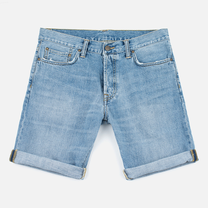 Carhartt WIP Klondike II Edgewood 12 Oz Men`s Shorts Blue Burst Washed