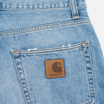 Carhartt WIP Klondike II Edgewood 12 Oz Men`s Shorts Blue Burst Washed photo- 3