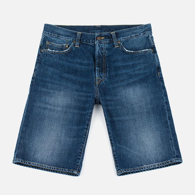 Мужские шорты Carhartt WIP Klondike II Edgewood 12 Oz Blue Gravel