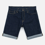 Мужские шорты Carhartt WIP Klondike OO Denim 12 Oz Blue Rinsed фото- 0