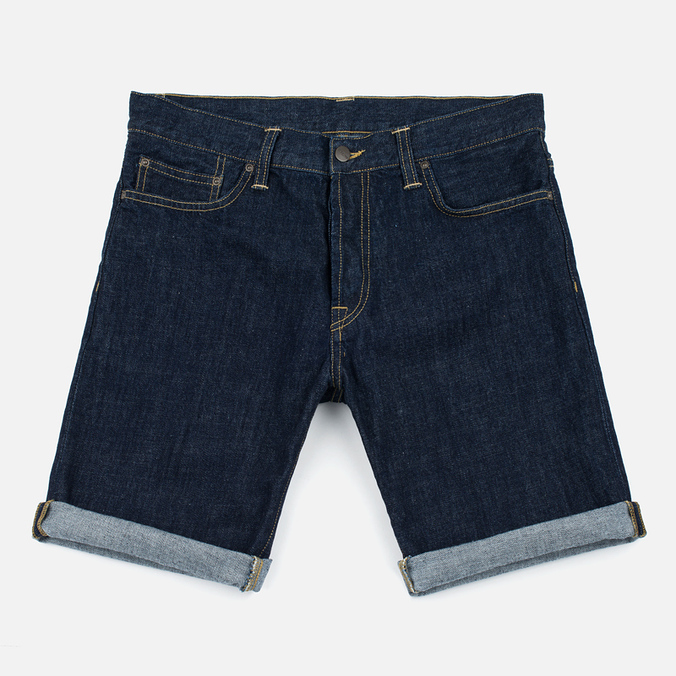 Carhartt WIP Klondike OO Denim 12 Oz Men`s Shorts Blue Rinsed