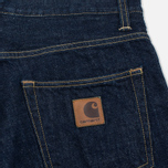 Мужские шорты Carhartt WIP Klondike OO Denim 12 Oz Blue Rinsed фото- 3