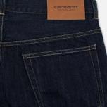 Мужские шорты Carhartt WIP Leyton Carter Selvedge 12.5 Oz Blue Rinsed фото- 3
