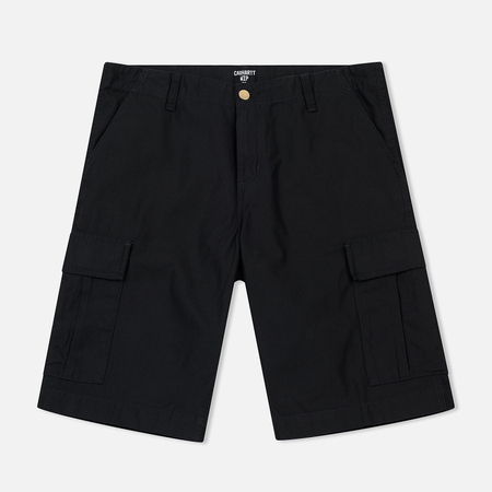Мужские шорты Carhartt WIP Regular Cargo 8 Oz Black Stone Washed