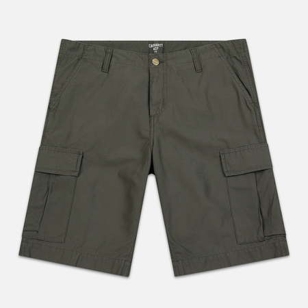 Мужские шорты Carhartt WIP Regular Cargo 8 Oz Moor Stone Washed