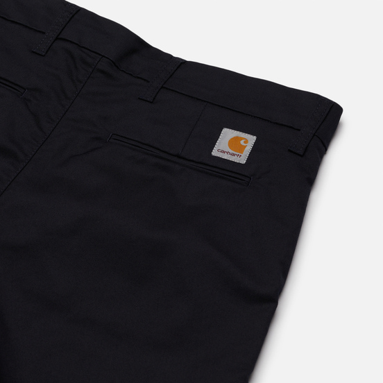 Мужские шорты Carhartt WIP Sid 8.6 Oz Dark Navy Rinsed