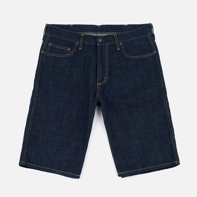 Мужские шорты Carhartt WIP Western II Blue Denim 12 Oz Blue Rinsed