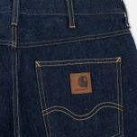 Мужские шорты Carhartt WIP Western II Blue Denim 12 Oz Blue Rinsed фото- 3