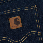 Мужские шорты Carhartt WIP Western II Blue Denim 12 Oz Blue Rinsed фото- 4