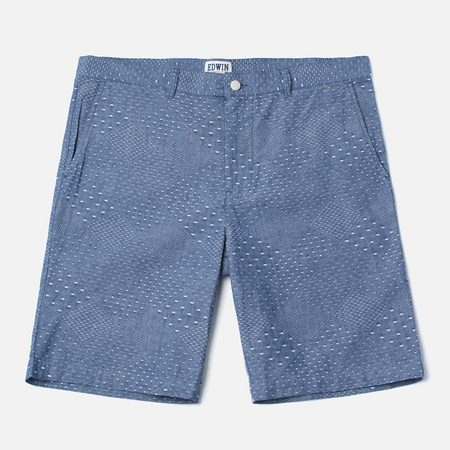 Edwin Boardwalk Dobby Men`s Shorts Blue Chambray