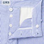Мужские шорты Edwin Rail French Striped Y/D Seersucker Navy/White фото- 2