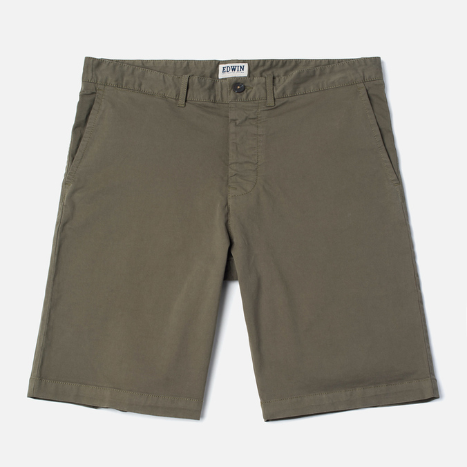 Edwin Rail Garmgent Dyed Men's Shorts Khaki