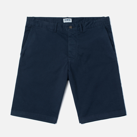 Edwin Rail Garmgent Dyed Men`s Shorts Navy Wash