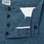 Мужские шорты Edwin Rail Japanese Twisted Chambray 5.86 Oz Blue фото- 2