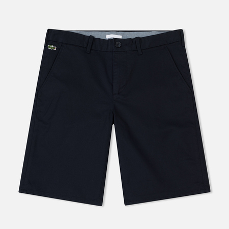 Мужские шорты Lacoste Live Stretch Cotton Twill Chino Cut Bermuda Navy Blue