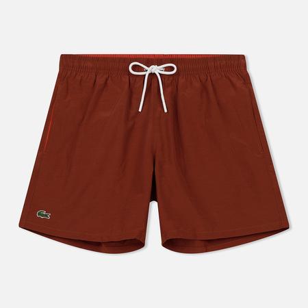 Мужские шорты Lacoste Taffeta Swim Brown/Red
