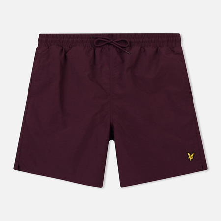 Мужские шорты Lyle & Scott Plain Swim Burgundy