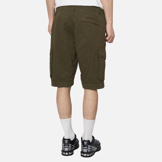 Мужские шорты MA.Strum Garment Dyed Cargo Dark Khaki Green