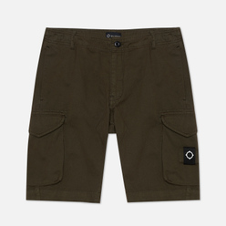 Мужские шорты MA.Strum Garment Dyed Cargo Dark Khaki Green