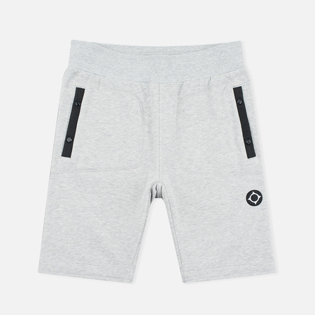 MA.Strum Pocket Detail Fleece Sweat Men's Shorts Grey Marl