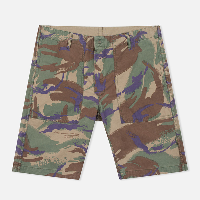Maharishi Reversible Camo Twill Men's Shorts Papal Woodland/Sand